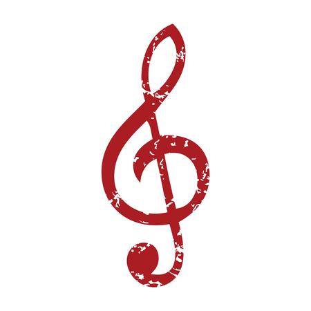 g clefs: Red grunge music