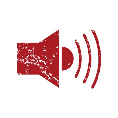Red grunge add sound  Çizim