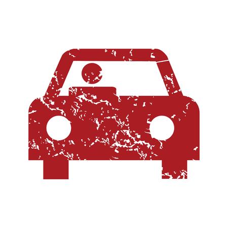 miles: Red grunge car logo