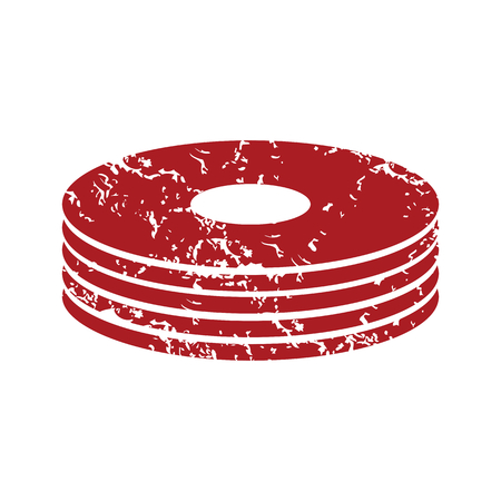 cd r: Red grunge disk