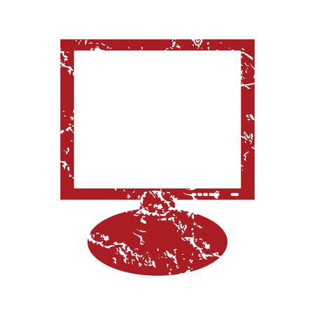 flatscreen: Red grunge monitor