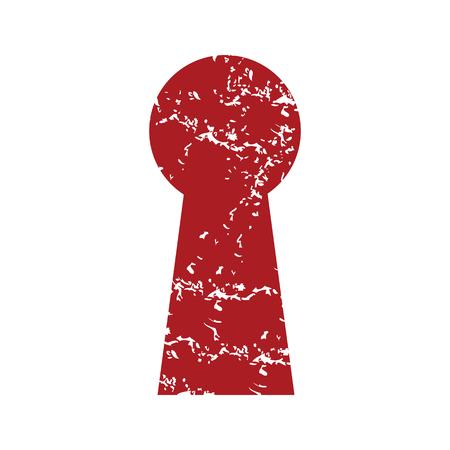 latchkey: Red grunge keyhole Illustration