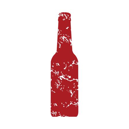 grunge bottle: Red grunge bottle