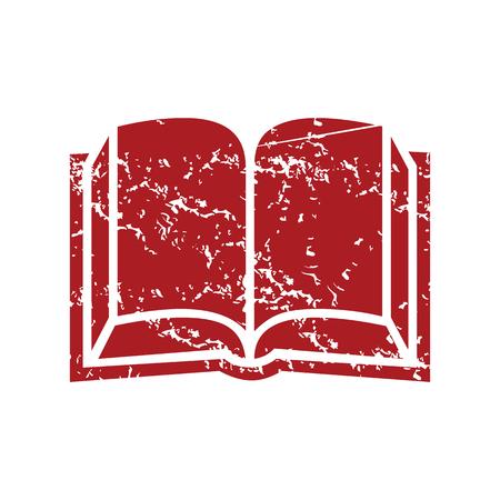 Red grunge book