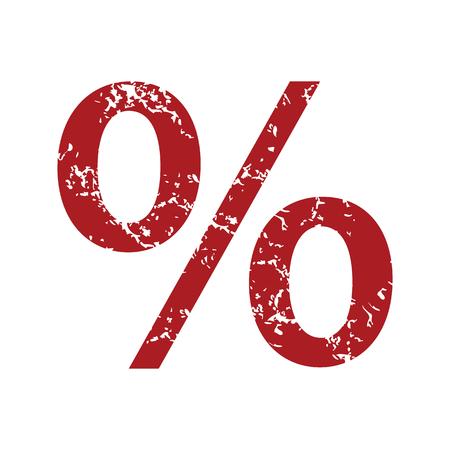 percentage: Red grunge percentage Illustration