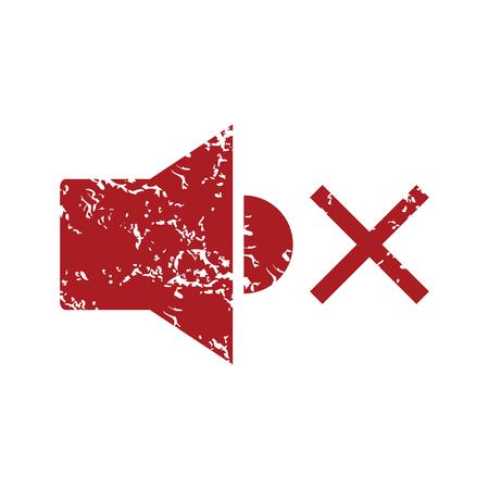 cd r: Red grunge no sound