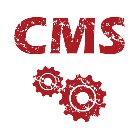 Red grunge cms  Vector