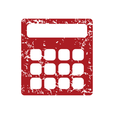 Red grunge calculator  Vector