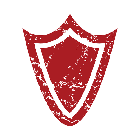 red grunge: Red grunge shield