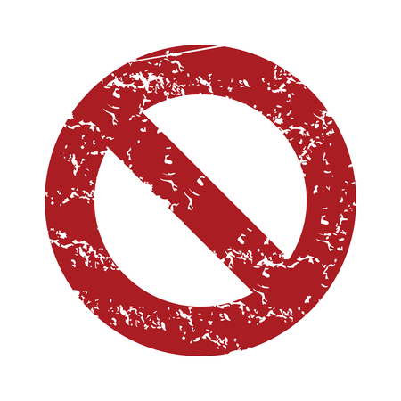 restrictive: Red grunge sign ban