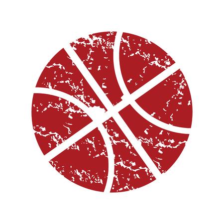 bal: Red grunge basketball