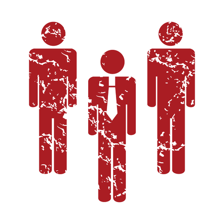 Red grunge working team  Vector