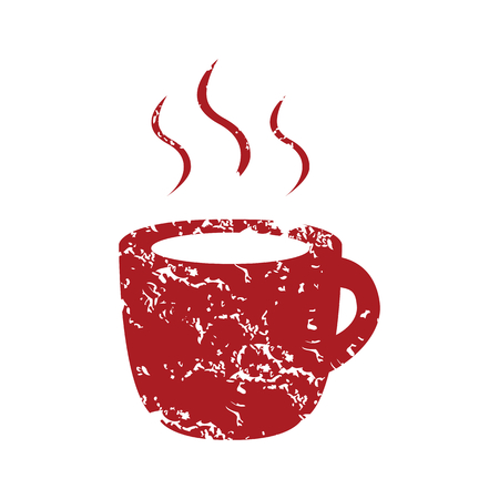 Red grunge cup of coffee