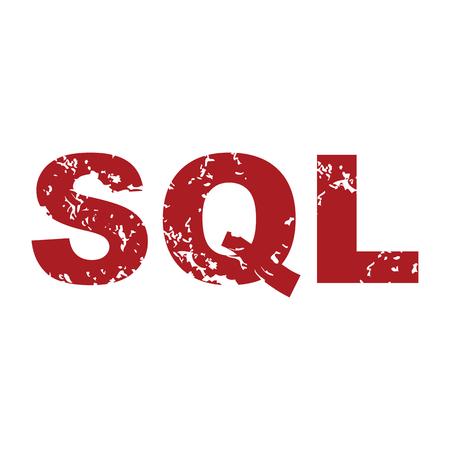 sql: Red grunge sql