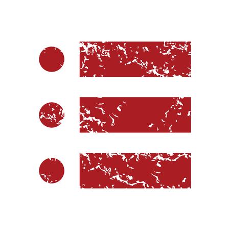 Ordinal: Red Grunge Ordnungsliste