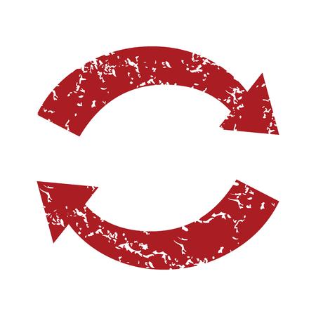 Red grunge reverse