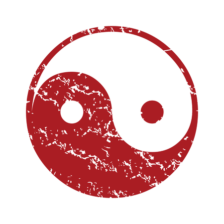 taoism: Red grunge Taoism