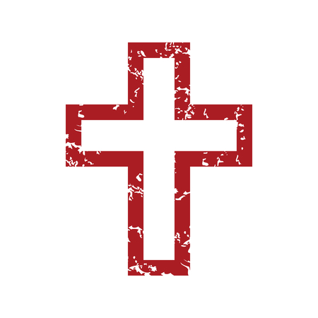 Red grunge Christianity  Vector