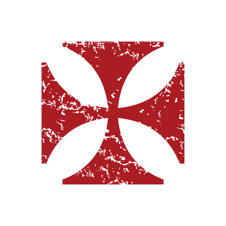 abbey: Red grunge religion cross Illustration