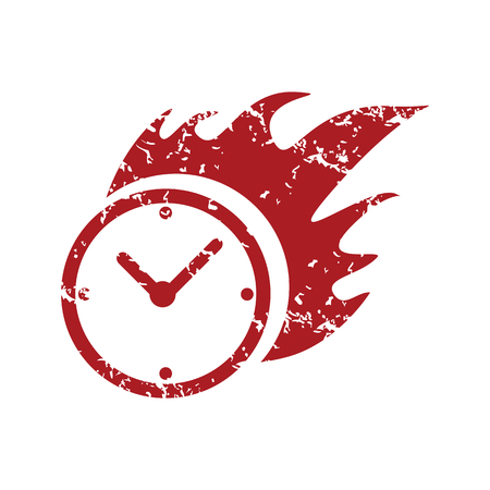 red grunge: Red grunge hot clock