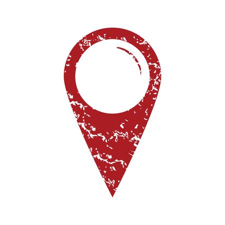 tip style design: Red grunge pointer