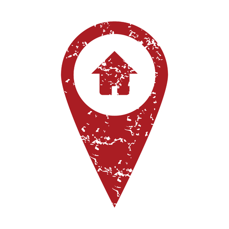 tip style design: Red grunge home pointer