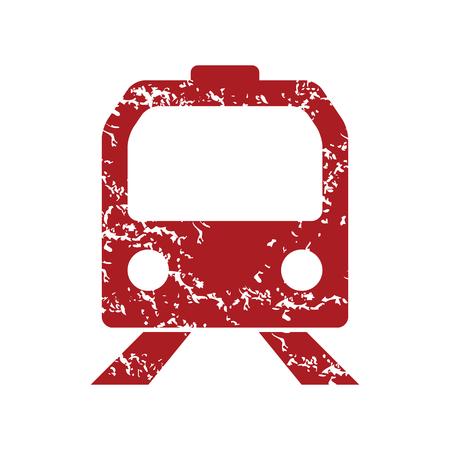 high speed railway: Red grunge train