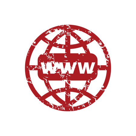 Red grunge www world Vector