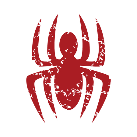 latrodectus: Red grunge spider Illustration