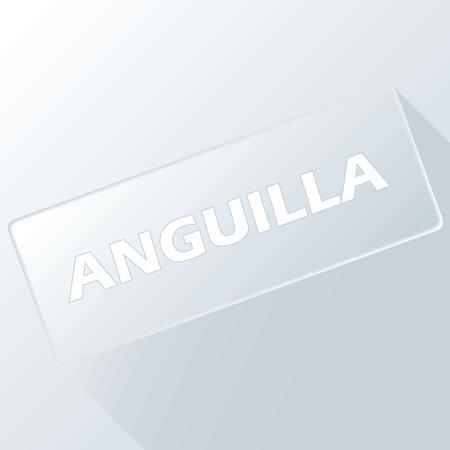 anguilla: Anguilla unique button Illustration