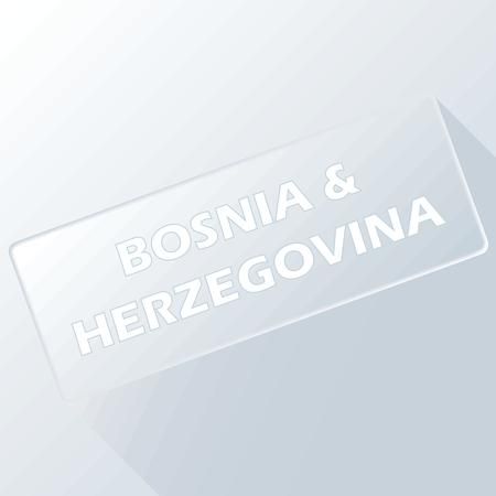 herzegovina: Bosnia and Herzegovina unique button