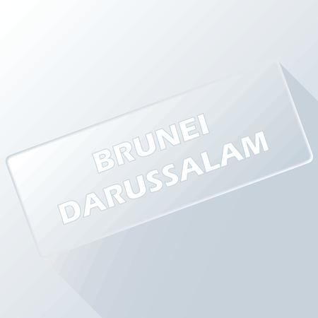 brunei darussalam: Brunei darussalam unique button Illustration