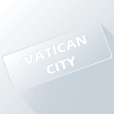 vatican city: Vatican city unique button