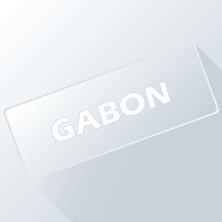 gabon: Gabon unique button