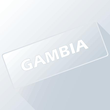 gambia: Gambia unique button