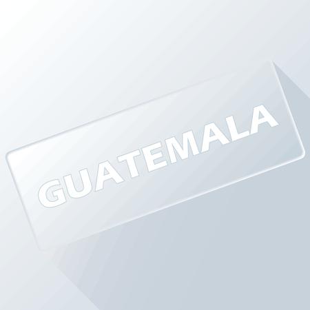 guatemala: Guatemala unique button Illustration