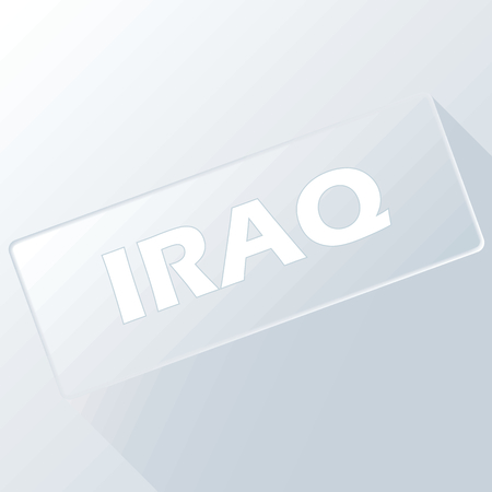 unclean: Iraq unique button for any design. Vector illustration