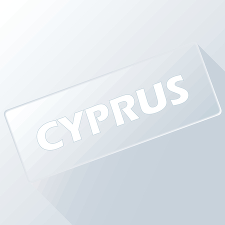 Cyprus unique button for any design. Vector illustration Vector