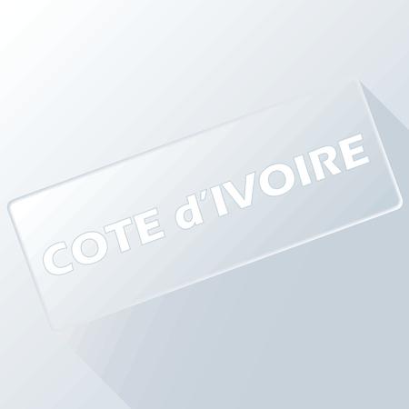 cote d ivoire: Cote d Ivoire unique button for any design. Vector illustration