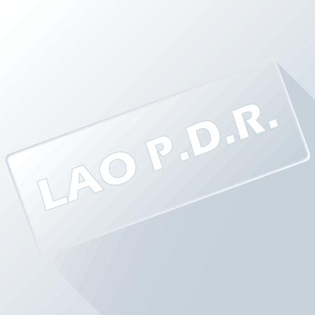 lao: Lao unique button Illustration
