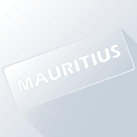 Mauritius unique button Vector