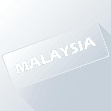 Malaysia unique button Vector