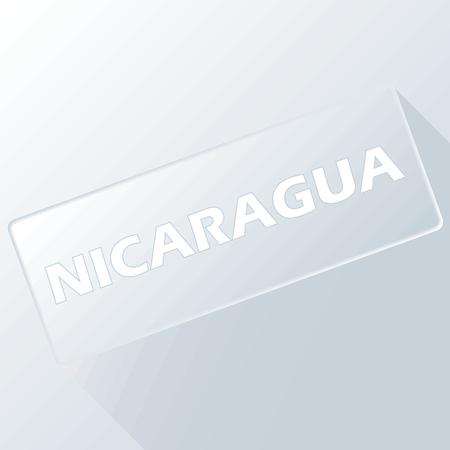 nicaragua: Nicaragua unique button