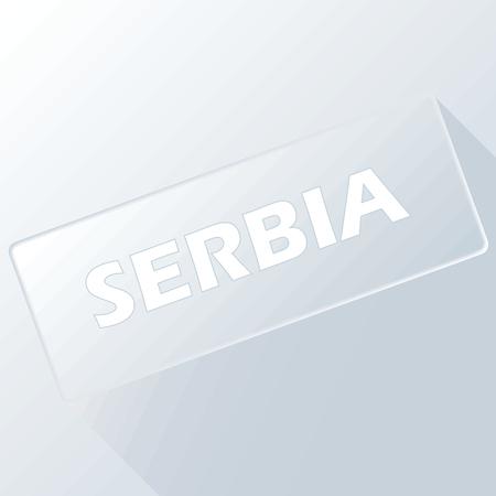 serbia: Serbia unique button