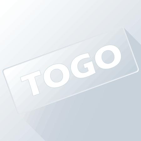 togo: Togo unique button Illustration