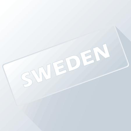 sweden: Sweden unique button Illustration