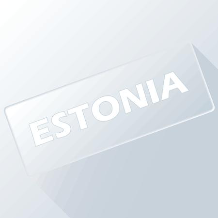 estonia: Estonia unique button