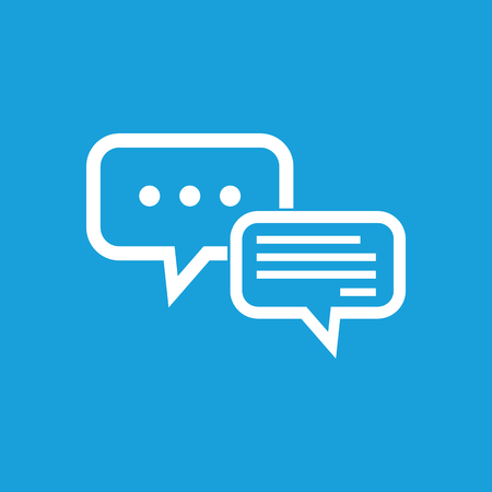 Typing text in dialogue symbol Illustration