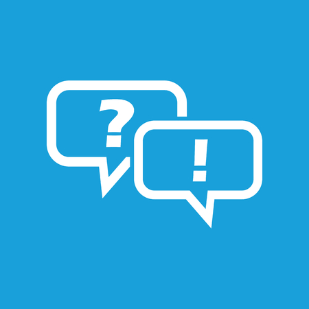 Answering question symbol Illustration
