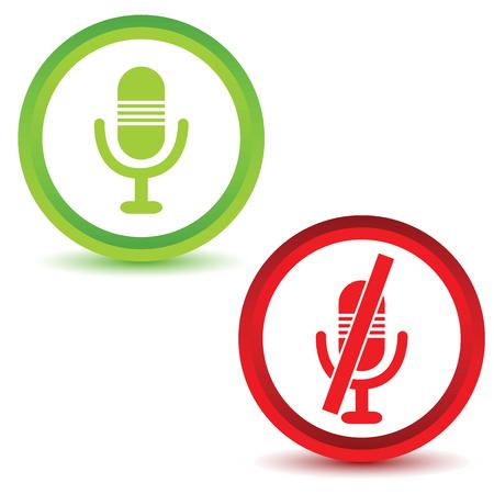 Microphone icon set Vector